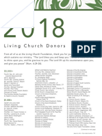 Donors to The Living Church 2019-03-24