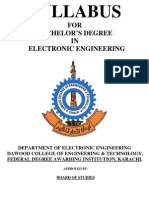 Syllabus Electronics Engineering