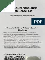 Velasques Rodriguez Con Honduras