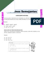 Terminos Semejantes Con Coeficiente Natural Para Quinto de Primaria (1)