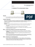 Travaux Pratiques Adresses IP Et Communication Réseau