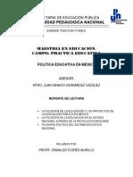 La filosofía de la educación y los proyectos de la educación pública en México.docx