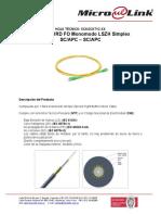 Patch Cord Microlink SM LSZH SCA - SCA Simplex 2mm estandar.pdf