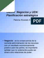Definir  Negocios y UEN