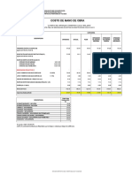 Costo de Mano de Obra - 2019