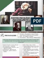 FUENTES PSICOLÓGICAS Y PSICOTERAPÉUTICAS