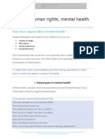 Human rights, mental health & disability