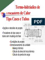 hidráulico de Trocadores de Calor Tipo Casco e Tubos.pdf