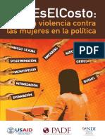 Bifolio sobre la violencia contra las mujeres en la política