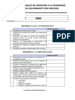 MEDIDAS GENERALES DE ATENCIÓN A LA DIVERSIDAD EN EL AULA (ALUMNADO CON DISLEXIA)