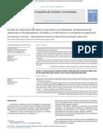 Escalas de Valoración Del Dolor en Pacientes Con Demencia. Instrumentos de Ayuda Para El Fisioterapeuta, El Médico, El Enfermero y El Terapeuta Ocupacional