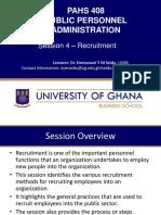 Session 4 Recruitment