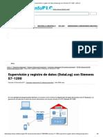 Supervisión y Registro de Datos (DataLog) Con Siemens S7-1200