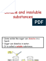 Soluble and Insoluble Substances