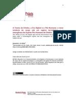 Teoria Do Direito, Era Digital e Pós-Humano