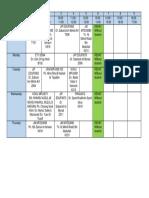2019 Sem4 Timetable