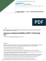 Arrancar El Software PLCSIM en STEP 7 (TIA Portal) V11