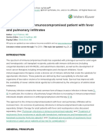 Approach to the Immunocompromised Patient With Fever and Pulmonary Infiltrates - UpToDate