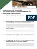 Tributario i - Lista de Exercicios 1