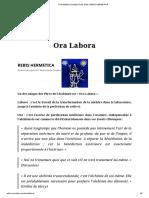 Présentation Societas Roris Solis _ REBIS HERMETICA