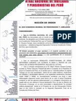 Moción CENAJUPE aprobada en II Congreso Mundial de la UIS de Pensionistas y Jubilados de la FSM. Bogotá, Colombia