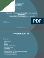 PRESENTACIÓN COVENIN 1753, estructuras de concreto armado