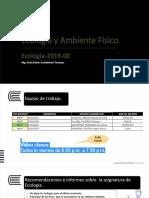 Diapositiva 1- ECOLOGÍA -2019