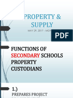 Property & Supply Unit - Post
