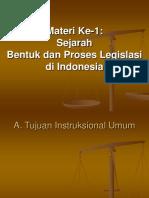 Sejarah Bentuk Dan Proses Legislasi Di Indonesia