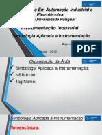 Aula 2 Introdução - Simbologia Aplicada a Instrumentação Industrial