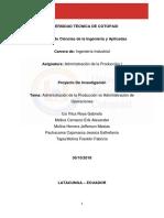 Informe Administracion de La Produccion vs Administracion de Operaciones