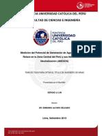 Li Sergio Medicion Generacion Agua Relave Zona Central Peru Necesidades Neutralizacion Anexos