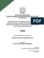 Diagnóstico del Clima Organizacional del personal docente de tiempo completo de las licenciaturas de la Facultad de Contaduría y Administración campus Xalapa de la Universidad Veracruzana