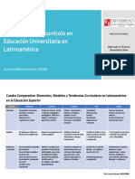 Cuadro Comparativo Currículo Educación Superior - LATAM