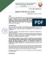 RESOLUCIÓN DE ALCALDIA N°  CHUPAMARCA SANEAMIENTO-1