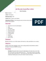 edu 280 lesson plan artifact