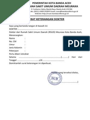 Surat Keterangan Dokter Pdf