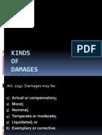 Actual, Moral, Nominal and Temperate Damages