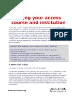 choosing an access course.doc