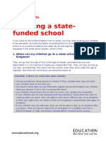 Choosing State-funded Schools
