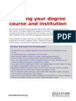Choosing Your Degree Course