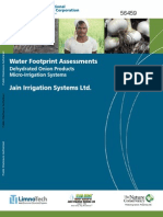 IFC, Jain Irrigation Break New Ground in Corporate Water Footprinting (October 2010)