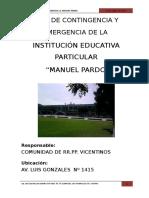 PLAN DE SEGURIDAD DE COLEGIO MANUEL PARDO