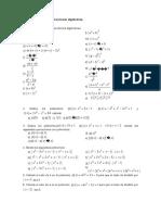 Hoja de ejercicios polinomios  y fracciones algebraicas 4º ESO
