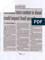 Manila Bulletin, Mar. 12, 2019, Increased coco content in diesel could impact food security.pdf