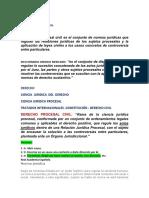Derecho Procesal Civil Resumen