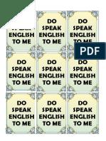 Speak English to Me
