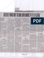Philippine Daily Inquirer, Mar. 12, 2019, Diterte vows not to sign 2019 budget if it is illegal.pdf