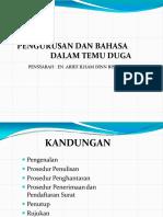 4. Pengurusan Dan Bahasa Dalam Surat Rasmi