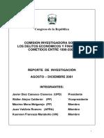 Primer Informe Preliminar de La CIDEF 10-12-2001